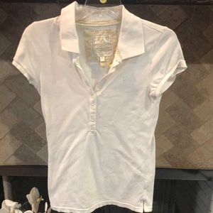 American Eagle white button shirt med
